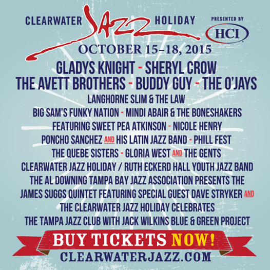 Gloria West & The Gents' live at the CLEARWATER JAZZ HOLIDAY 2015
